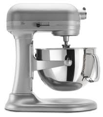 Silver Stand mixer with bowl
