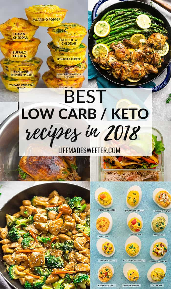 Best Low Carb/Keto Recipes in 2018 collage