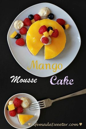 Mini Birthday Mango Mousse Cake