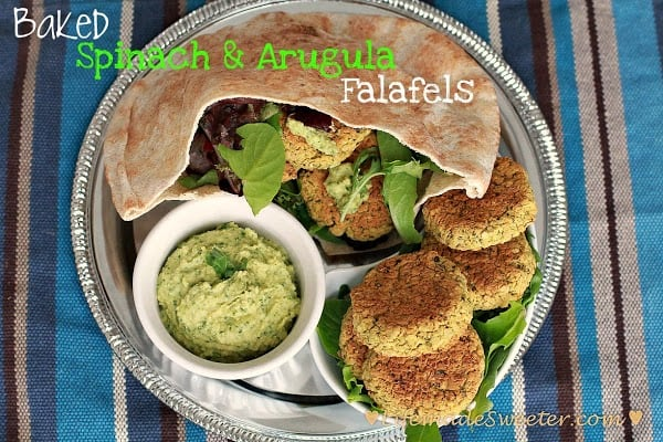 Baked Spinach & Arugula Falafel