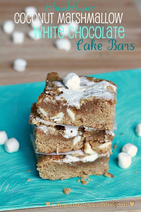 Healthier Coconut Marshmallow Bars