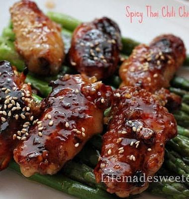 Best Spicy Thai Chicken Wings that are loaded with flavor and so easy to make.