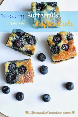 Blueberry Streusel Coffee Cake Squares