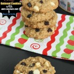 Biscoff Oatmeal Cookies with White Chocolate Chips and Black Currants - Life made Sweeter