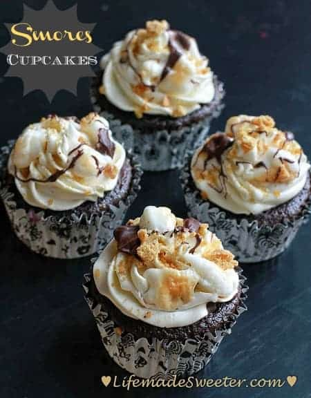 S'mores Chocolate Cupcakes
