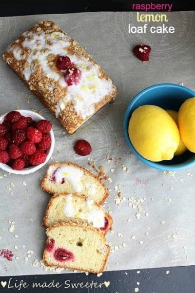 Raspberry Lemon Loaf Cake