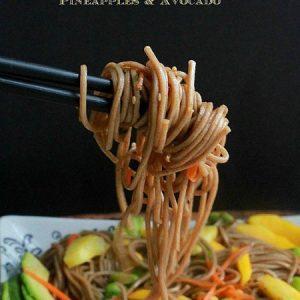 Soba Noodle Salad with Mango, Edamame, Pineapple & Avocado | Life made Sweeter
