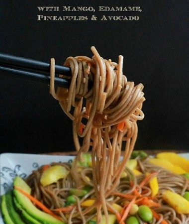 Soba Noodle Salad with Mango, Edamame, Pineapple & Avocado