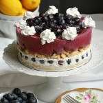 Blueberry Lemon Ice Cream Cake