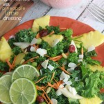 Kale Salad with Pineapple Lime Dressing - Life Made Sweeter