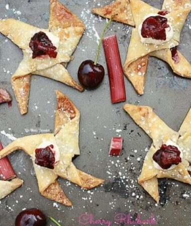 Cherry Rhubarb Pie Pinwheels - Life Made Sweeter