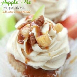 Apple Pie Cupcakes with - Salted Caramel Frostin