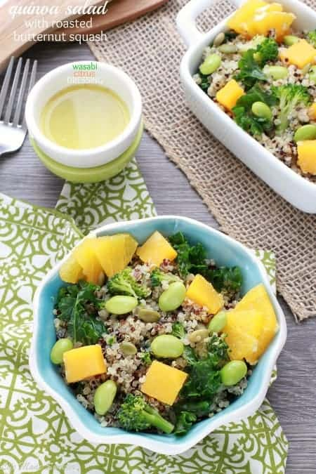 Quinoa Salad with Roasted Butternut Squash and Citrus Dressing