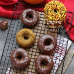 Baked Pumpkin Chocolate Chip Donuts with Chocolate Ganache {gf} @LifeMadeSweeter