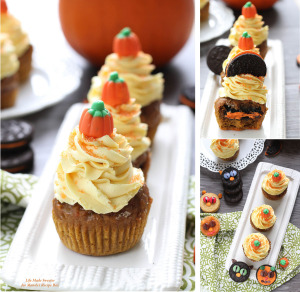 Pumpkin Cupcakes with Maple CinnamonFrosting @LifeMadeSweeter