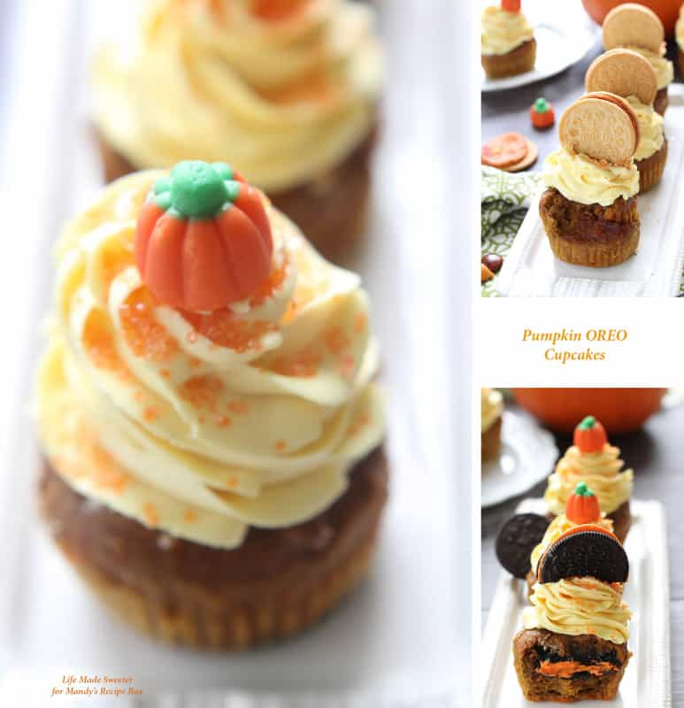 Pumpkin-Oreo-Cupcakes-with-Maple Cinnamon Frosting---by @LifeMadeSweeter