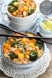 Red Curry Ramen-Noodles with Turkey, Kale, Butternut Squash and Chickpeas @LifeMadeSweeter