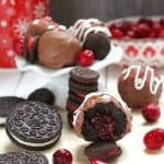 Cranberry Stuffed Oreo Truffles by @LifeMadeSweeter