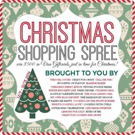 $500 Christmas Shopping Spree Giveaway + Foodie Holiday Gift Guides!