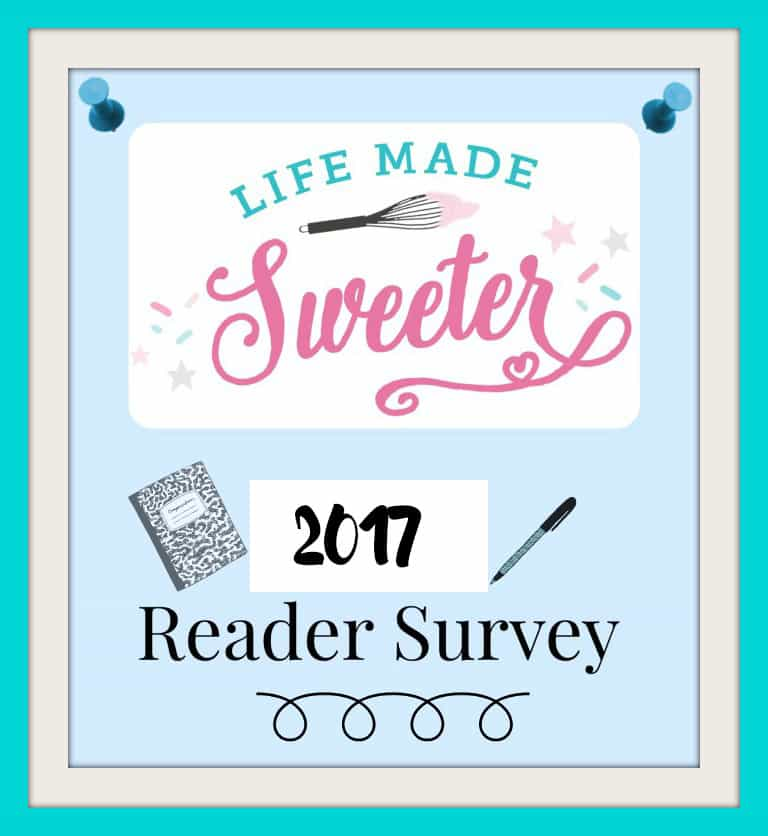 2017 Life Made Sweeter Survey