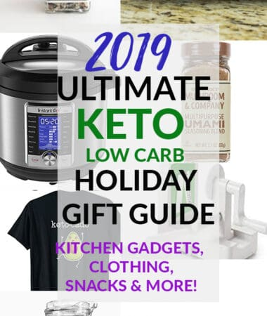 Collage of keto gift guide