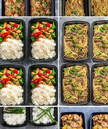 More than 25 of the most popular Asian Takeout favorites made Healthier and into Meal Prep Recipes. Including Chicken Chow Mein, Fried Rice, Chicken and Beef Lo Mein, Cashew Chicken Chicken Pad Thai, Shrimp Teriyaki Zoodles, Beef Teriyaki Zoodles, Honey Lemon Chicken, Kung Pao Chicken, General Tso's Chicken + more. Perfect for Sunday meal prep for school or work lunchboxes or lunch bowls
