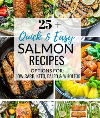 Collage of 6 best salmon recipes that are quick and easy for busy weeknights