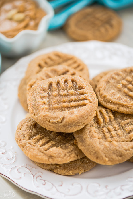 Flourless 3 Ingredient Peanut Butter Cookes