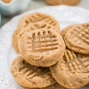 3 Ingredient Peanut Butter cookies are so easy to make