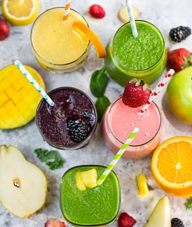5 Healthy & Delicious Detox Smoothies + Video!
