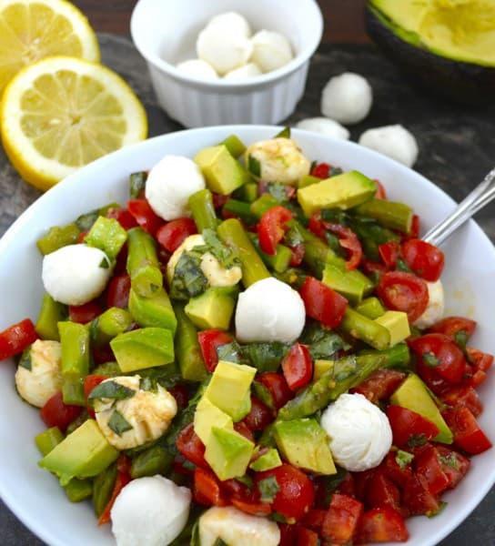 Asparagus Avocado Tomato Salad