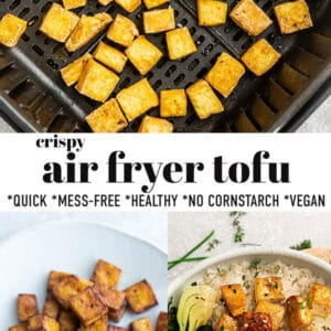 Pinterest collage for air fryer tofu