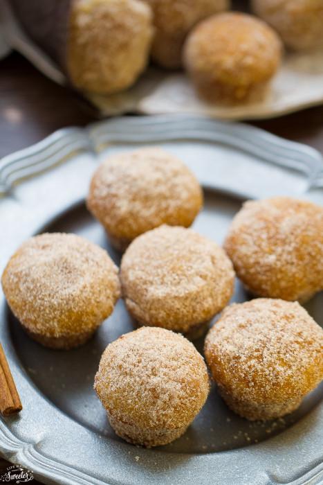 Apple Cider Donut Muffins with Caramel Filling