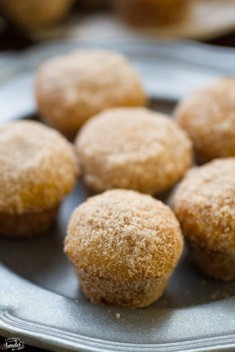 Apple Cider Donut Muffins with Caramel Filling