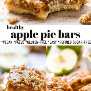 Collage for Healthy Apple Pie Bars