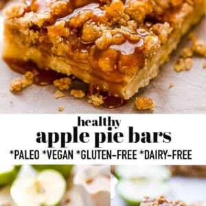 Pinterest collage for apple pie bars