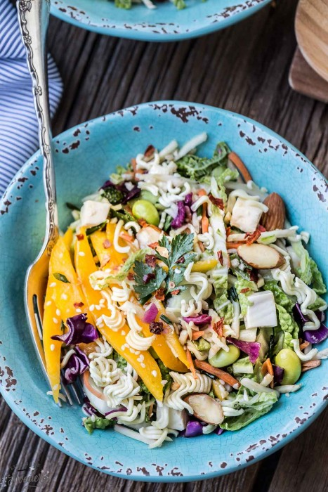 Asian Cabbage Slaw {Chinese Ramen Noodle Salad}