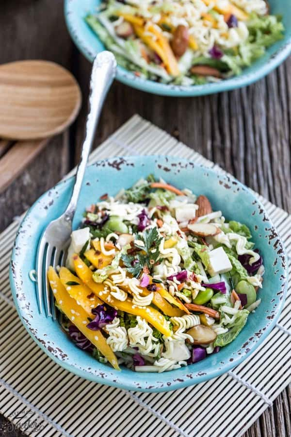 Asian Cabbage Slaw makes the perfect easy and healthy dish!