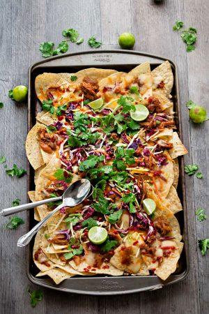 Asian Chicken Nachos (Instant Pot or Slow Cooker)