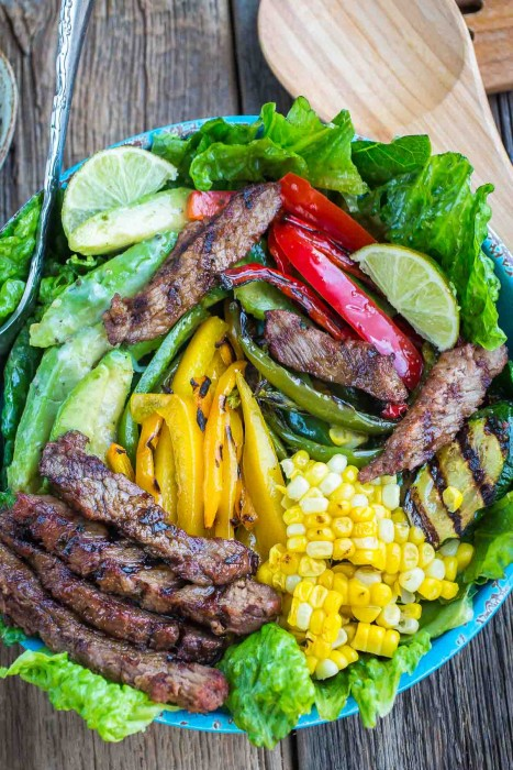 Asian Sesame Steak Fajita Salad