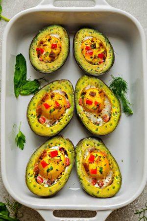 Avocado Egg Cups – Low Carb, Keto, Paleo