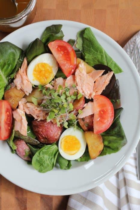 Baked Salmon Salad