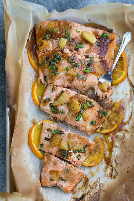 Pineapple Orange Teriyaki Salmon