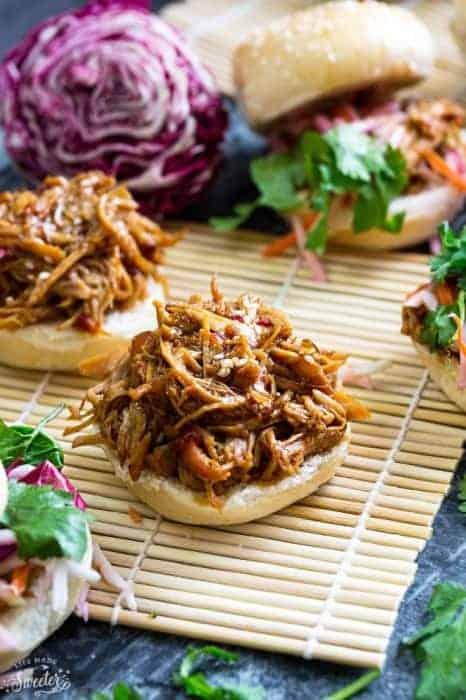 Slow Cooker Balsamic Honey Pulled Pork Sliders