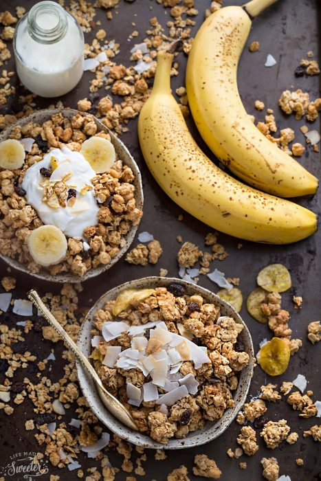 Banana Nut Granola (GF, Vegan + Refined SF)