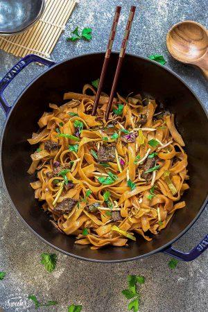 Beef Chow Fun (Fried Ho Fun Noodles)