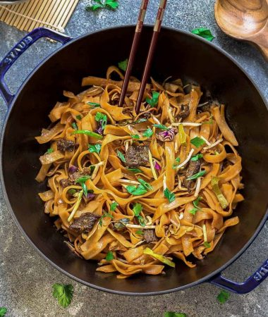 Beef Chow Fun (Fried Ho Fun Noodles)