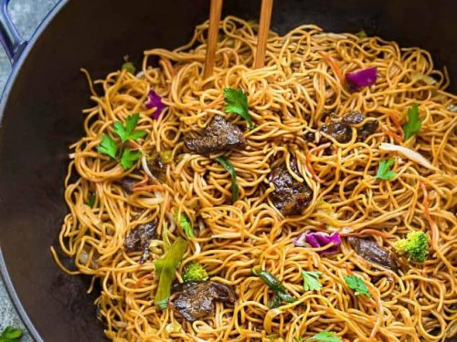 Beef Chow Mein Homemade Chinese Food Recipe