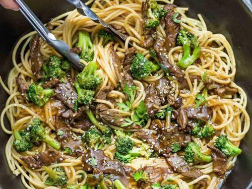 Beef Lo Mein Noodles One Pot Easy Recipe Video