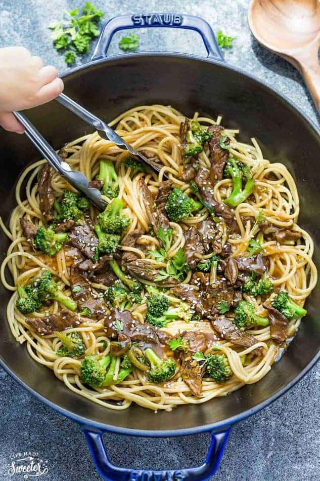 Beef Lo Mein Noodles One Pot Easy Recipe Video
